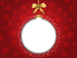red christmas background with white bauble vector free download