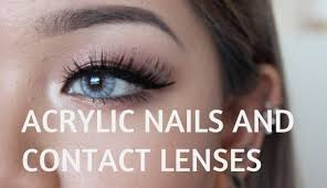 how to remove contacts with acrylic nails youtube