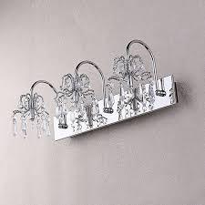 3 light bathroom vanity captivating crystal bathroom vanity light 4 chrome for amazing