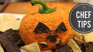 easy halloween appetizer pumpkin cheese ball youtube