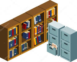Locker Bookshelf Locker And Bookshelf U2014 Stock Vector Sukmaraga 1697257