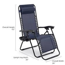 Lounge Chair Patio 2 Folding Zero Gravity Reclining Lounge Chairs Utility Tray