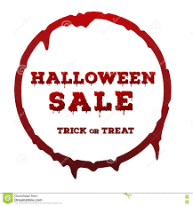 halloween sale inscription on white background template of poster