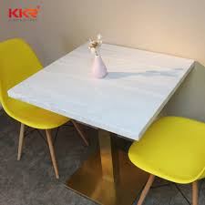 Modern Bistro Chairs Artificial Marble Restaurant Cafe Bistro Table And Chair Sets