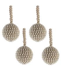 pearl ornament set of 4