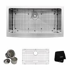 Apron Sinks At Lowes by Shop Kraus Handmade 20 75 In X 35 88 In Single Basin Stainless