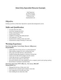 data entry resume entry level data entry resume sle data entry resume