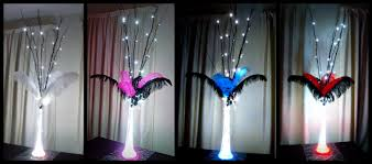 Led Light Base For Centerpieces by Ostrich Feather Table Centrepiece Decorations With Extra Tall Led