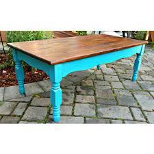 Shabby Chic Coffee Tables Rustic Vintage Oak Coffee Table With Turquoise Shabby Chic B