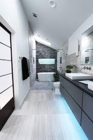 White Pebble Tiles Bathroom - metro floor bathroom contemporary with pebble tile wall sconce