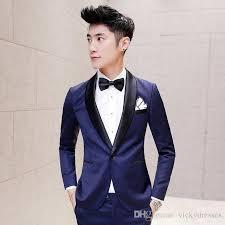 new 2017 mens suits terno slim fit shawl collar royal blue mens