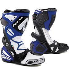 bike racing boots forma ice pro black blue motorcycle motorbike sports bike racing