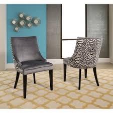 Zebra Dining Room Chairs by Abbyson Esther Grey Velvet Zebra Dining Chair Set Of 2 Free