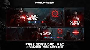 free template download banner perfil e capa do twitter god of