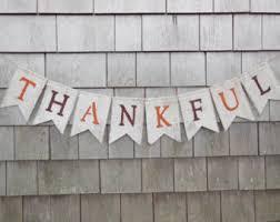 thankful burlap banner thanksgiving decor thanksgiving