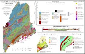 Maine State Map by Iapetus Seabed Deposits
