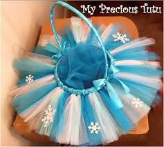 Easter Baskets Decorated With Tulle by Snowflake Tutu Easter Basket By Myprecioustutu On Etsy Easter