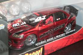 mitsubishi car jada toys mitsubishi motors lancer evolution viii import racer 1