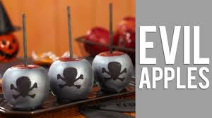 how to make evil halloween candy apples youtube