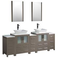 84 Inch Double Sink Bathroom Vanity Fresca Oxford 84 In Double Vanity In Mahogany With Ceramic Vanity