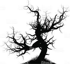 Spooky Halloween Silhouettes Creepy Tree Stock Vector Art 164157361 Istock