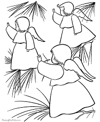 christmas tree ornaments coloring page free download
