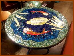 Mosaic Patio Furniture Tile And Glass Mosaic Tables