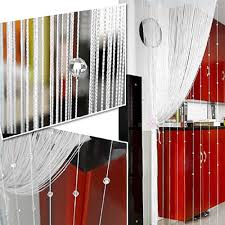 1 x 2m taos crystal glass beaded tassel string curtains door
