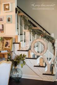 Banister Decorations For Christmas 55 Rustic Farmhouse Inspired Diy Christmas Decoration Ideas For