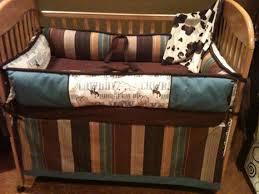 Western Boy Crib Bedding Blue And Brown Cowboy Western Crib Bedding By Bellabeddingcouture