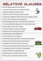 relative clauses quiz english language esl efl learn english