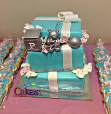 Tiffany Blue Baby Shower Cake - tiffany u0026 co inspired baby shower cake cakecentral com