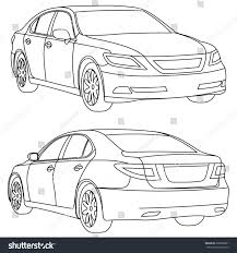 drift cars drawings vector business car line draw two stock vector 369868001
