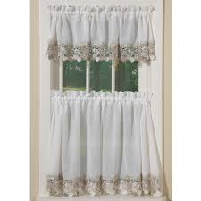 White Lace Shower Curtain With Valance by Cottage Chic Vineyard Macrame Lace Curtains Sturbridge Yankee