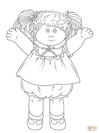 cabbage patch kids coloring page coloring home