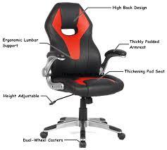 ergonomic computer desk chair racing car gaming chair faux leather computer desk chair