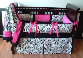pleasant pink and black crib bedding sets best home decorating