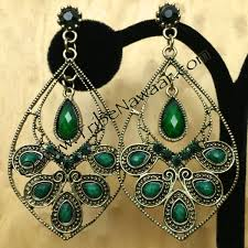 peacock earrings emerald peacock earrings tribe nawaar