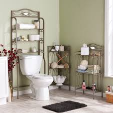 astounding green bathroom idea with gray walls also minimalist inspirational bathroom organization idea using wrought iron racks next to green wall design