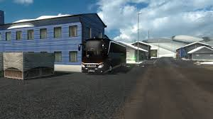 ets2 bus trip with our turists from japan in iceland setra 519
