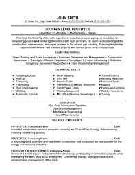 Industrial Maintenance Resume Examples by Journey Level Pipefitter Resume Template Premium Resume Samples