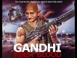 Gandhi Memes - mahatma gandhi is a blood thirsty psychopath who wants to nuke