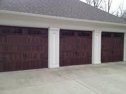 Backyard Garage Designs Decor Brown Wood Haas Garage Doors For Attractive Front Yard