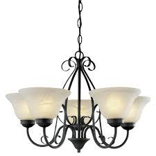 5 light bronze chandelier hton bay somerset collection 5 light bronze chandelier