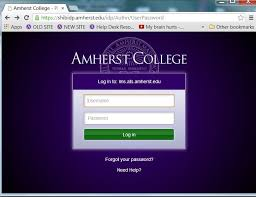 Ats Help Desk Announcements Change To The College U0027s Web Login Page Amherst
