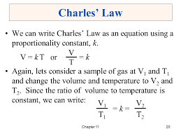 20 charles law we can write