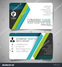 blue green modern creative business card stock vector 554959387