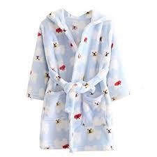robe de chambre avec capuchon echery unisexe filles garçons à capuche peignoir doux coral fleece