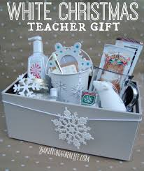 dreaming of a white christmas teacher gift goodies stuffed in a