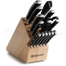 kitchen knives wusthof wusthof classic ikon 16 piece block set knifecenter 7816